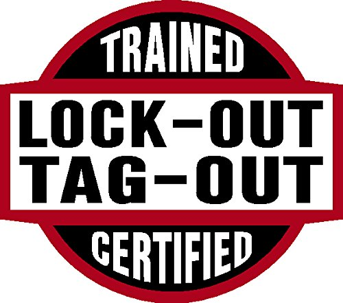 Decal Tag - Lock-Out Tag-Out Trained Certified, lock out, tag out, 2