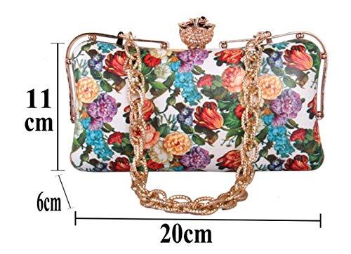 da le donne sposa Size colore Hand per Wallet Mindruer Multi Multi Bag Wedding Evening Colored Clutch Prom AzSXvqw