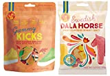Candy People 100% Swedish Gummy Candy – Fruit Flavored Gummy Sneakers with Tutti Frutti Soles and Swedish Dala Horse – Non-GMO and No Artificial Colors - 2-Pack