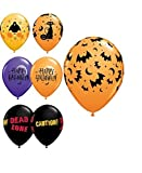 "Halloween Balloons - Assorted Design 11"" Latex - 10 Pack"