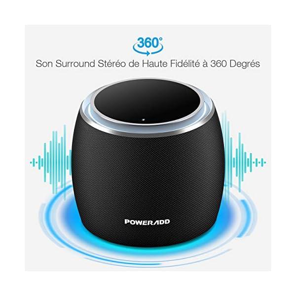 POWERADD Enceinte Bluetooth Portable, 36W Basse Performant avec 4 Pilotes Intégrés, 4000mAh Grande Capacité, Volume Rotatif, Musique de 12H pour Intérieur/Extérieur 2