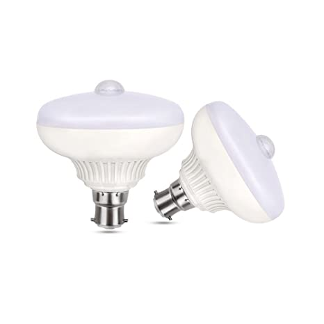 scoolr Sensor de movimiento luz bombilla, B22 12 W PIR bombillas LED luces de noche