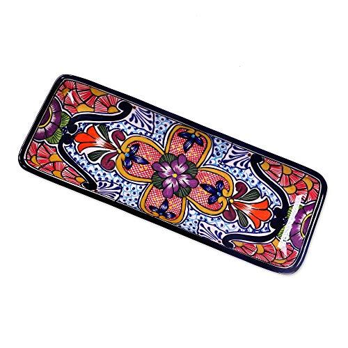 Talavera Ceramic Floral Platter, Radiant Flowers' ()