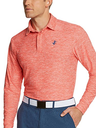 Men's Dry Fit Long Sleeve Polo Golf Shirt, Moisture Wicking UV Protection – DiZiSports Store
