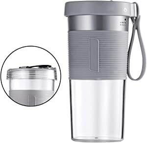 Bticx Portable Blender, USB Rechargeable Personal Juicer Blender with Two Lids, Strong Speed and Blade, Safety Protection Mechanism, Juicer Cup for Shakes Smoothies Home Sports Office