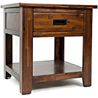 Jofran: 1500-3, Coolidge Corner, Square End Table, 24W X 24D X 25H, Brown Finish, (Set of 1)