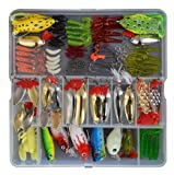 129 Pcs a Set Fishing Lures Tackle Kit Bionic Frog Minnow Soft Grub Shrimp Lure Metal Sequins Spoons Spinner Lure for Fishing Lovers