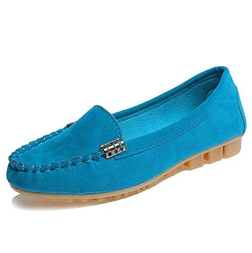 casual e a Forty semplici donna scarpe fondo Scarpe rotonde casual piatte tonde piatto da qCxZZwH0