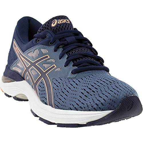 ASICS Womens Gel-Flux 5 Running Shoe, Blue/Canteloupe/Peacoat, Size 8