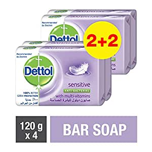 Dettol Sensitive Anti-bacterial Bar Soap 120gm (2+2)