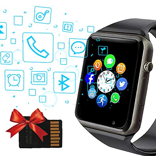 Smart Watch, Janker bluetooth Smartwatch Unlocked Watch Phone with SIM Card Slot Camera Pedometer Touch Screen Music Player Wrist Watch Android iOS Phone Compatible for Men - Watch Wrist Phone