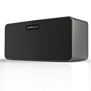 AudioGeek R400 Distortion-Free Aluminum Wireless Speaker (High-Fidelity) Bluetooth 4.0 / Dual Driver 10W Output (Powered by ClearSound Technology)