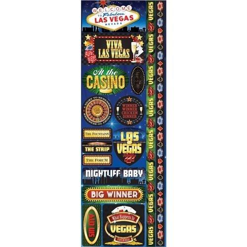Las Vegas Cardstock Stickers - Reminisce Signature Series 2012 Cardstock Combo Stickers 4.25