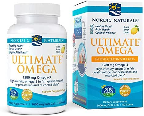Nordic Naturals - Ultimate Omega Fish Gels, Support for a Healthy Heart, 60 Soft Gels (FFP)