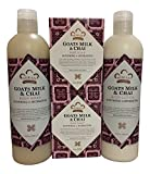 Goat's Milk & Chai Soap, Lotion & Body Wash Set.. by Nubian Heritage (4 Pack)… iwgl For Sale