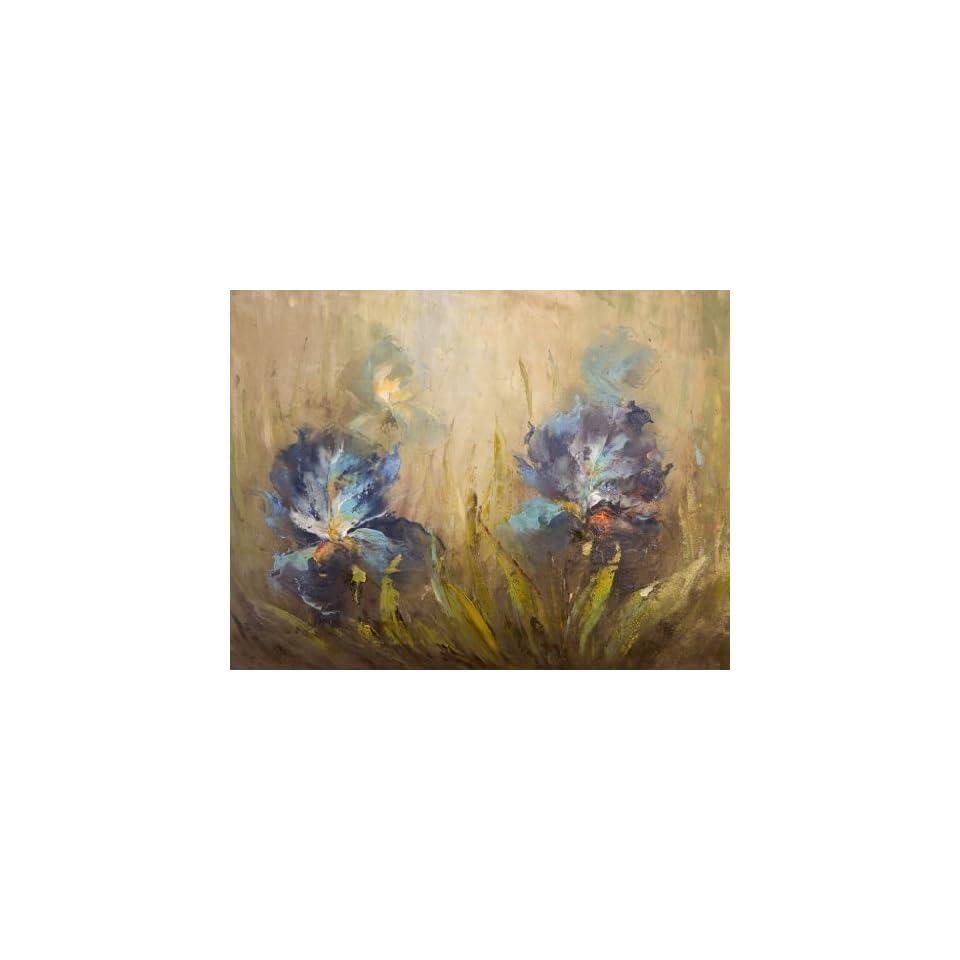 IRIS FLOWERS MODERN ART MODERN ART MEDIUM OIL Painting 12 X 16   HAND PAINTED CANVAS ART