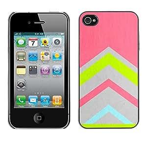 [Neutron-Star] Snap-on Series Teléfono Carcasa Funda Case Caso para iPhone 4 / 4S [Gris azul del trullo Rosa Verde]