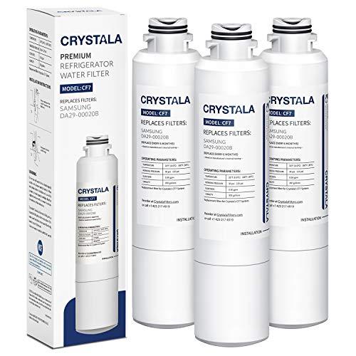 Samsung DA29-00020B Refrigerator Water Filter Compatible for Samsung DA29-00020B, HAF-CIN/EXP, Kenmore 46-9101 by Crystala Filters, 3 Pack