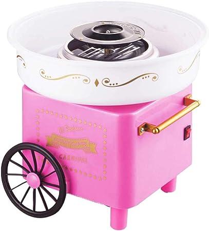 Mini Portátil Máquina de Dulces de Algodón Candy Nostalgia Floss Máquina de Azúcar Máquina de Dulces de Algodón para el Hogar Niños Regalo Fiesta de Carnaval Roscloud@ (Color : Pink): Amazon.es