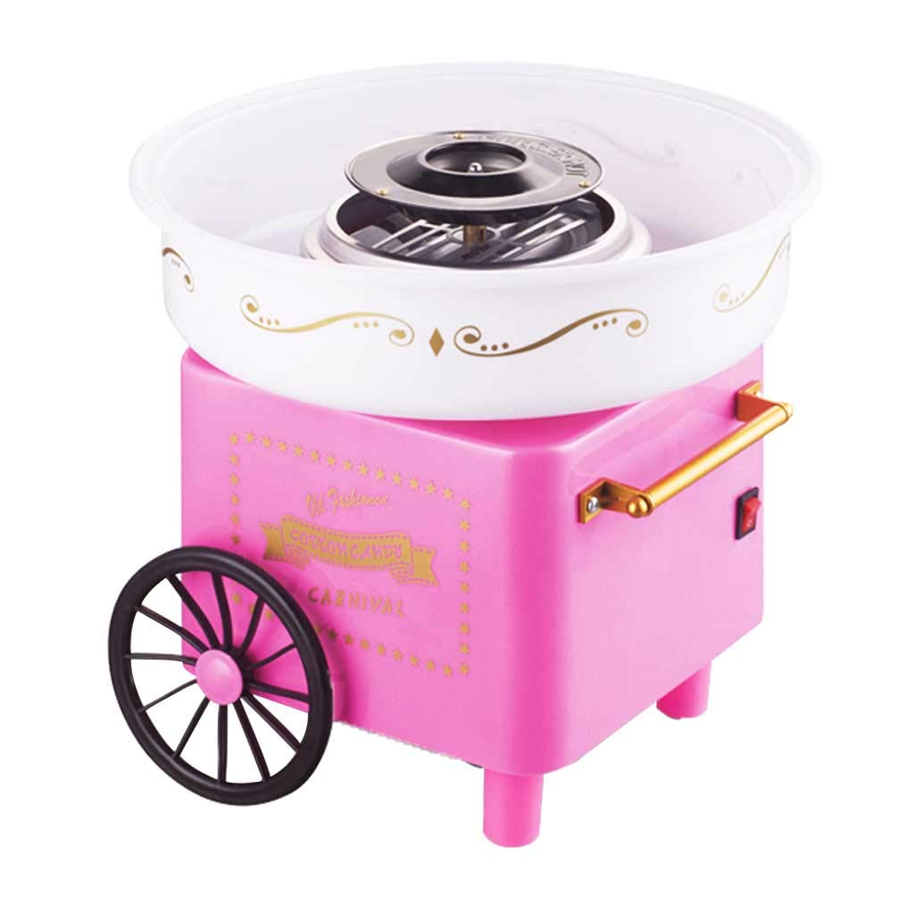 Cotton Candy Machine Electric Kids Candy Floss Maker Homemade Sweets Professional for Sale Home Use Carnival Party Roscloud@ (Color : Pink)