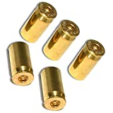 "mySimple Products (5 Count) Cool and Custom ""45 Cal Bullet Shells with Easy Grip Design"" Tire Wheel Rim Air Valve Stem Dust Cap Seal Made of Genuine Anodized Brass Metal {Gold Color}"