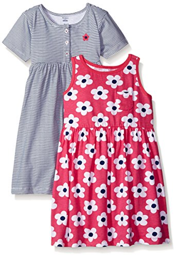 Gerber Little Girls' Toddler Two-Piece Dress Set, Big Flowers/Exclusive, (Two Piece Bloomers)
