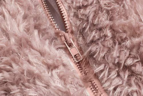 Outwear Caldo Giacca Sintetica Manica Lunga Rosa ❤ Inverno Autunno Donna Cappotto Vicgrey Pelliccia Donna Parka Casuale Coat pzq0Fnfx