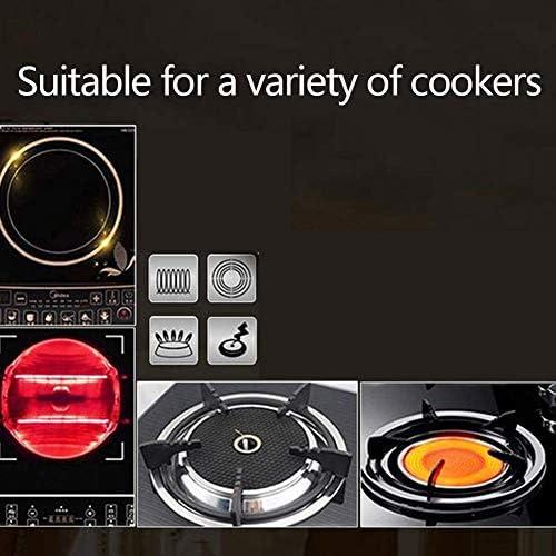 Pot Pots De Cuisson Casseroles Plat De Bifteck Avec Plaque De Barbecue De Cuisine Teppanyaki Commerciale Avec Deux Poignées Induction Poêle À Griller Anti-Adhésif