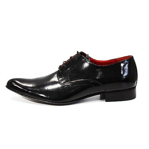 cfcdec74b3d Modello Bocconi - Cuero Italiano Hecho A Mano Hombre Piel Negro Zapatos  Vestir Oxfords - Cuero Cuero Suave - Encaje  Amazon.es  Zapatos y  complementos