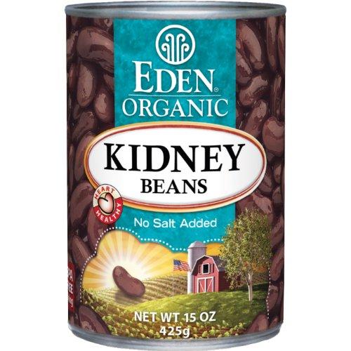 Eden Organic Beans - Eden Organic Kidney Beans, No Salt Added, 15-Ounce Cans (Pack of 12)