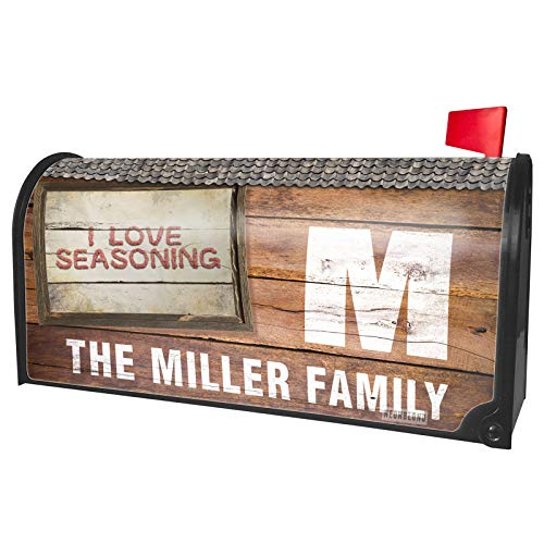 NEONBLOND Custom Mailbox Cover I Love Seasoning Ground Minced Meat BBQ