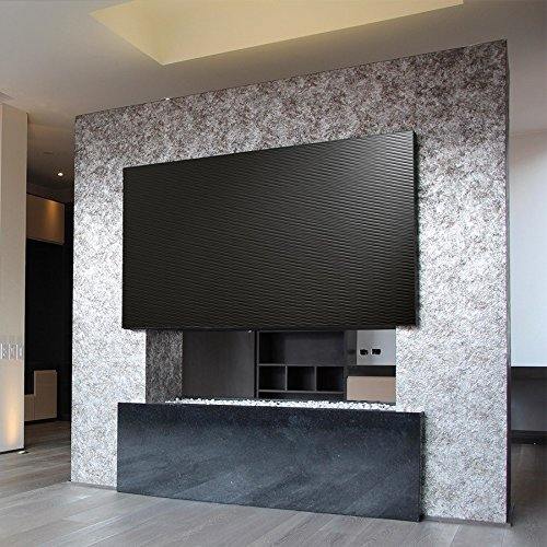 Revestimiento mural WallFace 15763 MOTION TWO autoadhesivo con ranuras horizontales efecto lacado color negro 2,6m2: Amazon.es: Bricolaje y herramientas