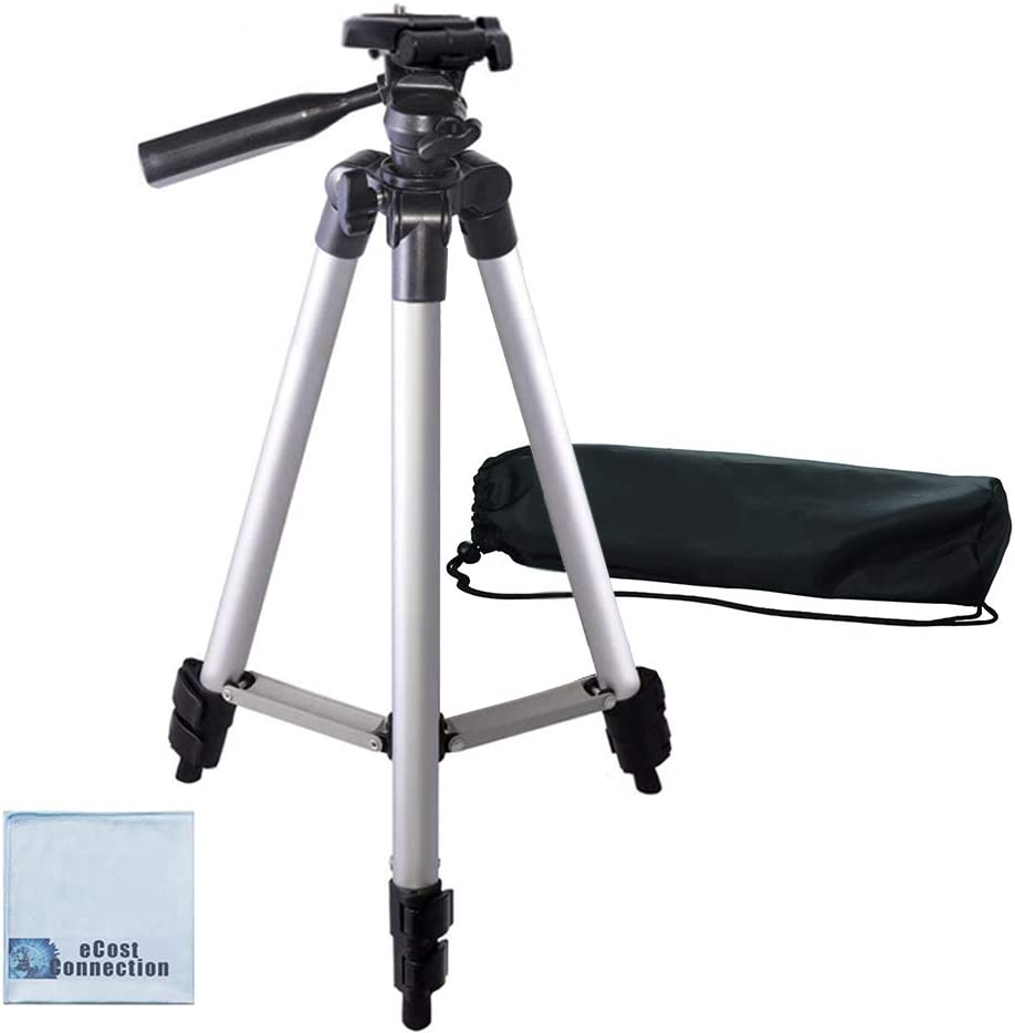 50 Inch Aluminum Camera Tripod for Canon, Nikon, Sony, Samsung, Olympus, Panasonic & Pentax + eCost Microfiber : Camera & Photo