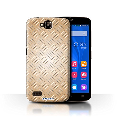 Coque de Stuff4 / Coque pour Huawei Honor Holly / Or Design / Motif en Métal en Relief Collection