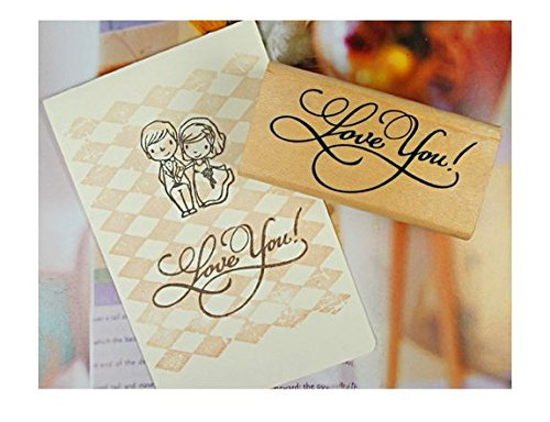 Cross Stitch Card Making - Adeeing Vintage Style Greeting Words DIY Rectangle Wood Rubber Seal Stamper Craft Art Word Love for Card Making