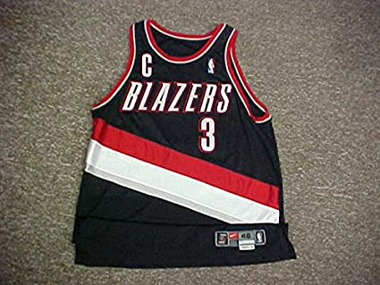 quality design 76f04 6c233 Damon Stoudamire. Portland Trail Blazers Nike Black Game ...