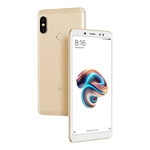 "Xiaomi Redmi Note 5 64GB Dual Sim, Dual Camera 4GB RAM, 5.99"", GSM Unlocked Global Version, No Warranty (Gold)"