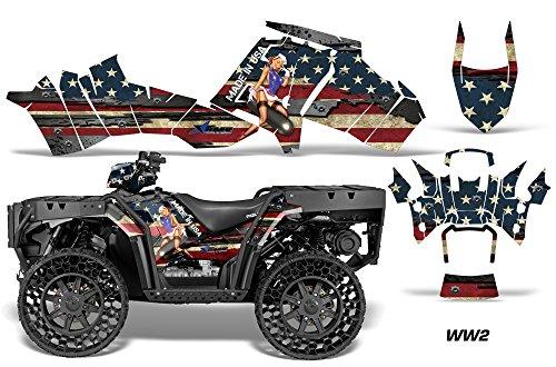 AMRRACING Polaris Sportsman WV850 2012-2015 Full Custom ATV Graphics Decal Kit - - Kits Graphics Atv