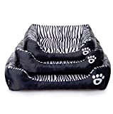 Hot Fashion Dog Beds Zebra Print Pets House Cartoon Style Puppy Dogs Beds for Small Larger Pets Cats House (M(584514cm))