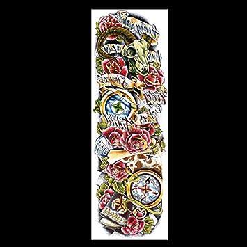 HXMAN 48 X 17cm Ojo Completo Brazo Temporal Tatuaje Pegatina Para ...