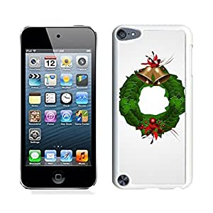 Ipod 5 Cases,Christmas Jingling Bell Decoration White Hard Shell Plastic Apple Ipod Touch 5th Cases