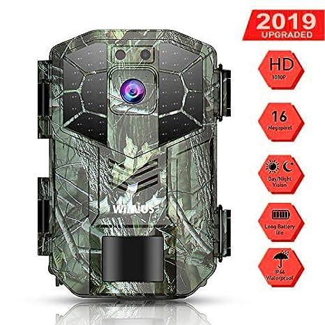 WiMiUS Cámara de Caza Vigilancia 16MP1080P(40FPS), Camara Caza con 940nm Luz Invisible, Camara Caza Nocturna Velocidad de Disparo de 0.6s de hasta 65 ...