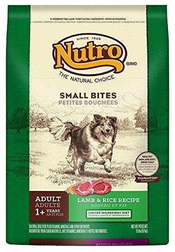 Amazoncom Nutro Adult Small Bites Lamb And Rice Dog Food 15 Lbs