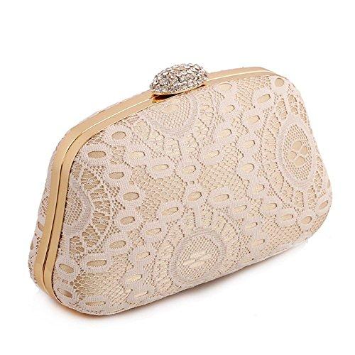 ERGEOB® Damen Clutch Abendtasche Handtasche Clutch Kleine Spitze Handgelenkstaschen Hochzeittasche