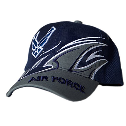 US HONOR TM Officially Licensed Embroidered Shark Fin Air Force Logo Baseball Caps Hats