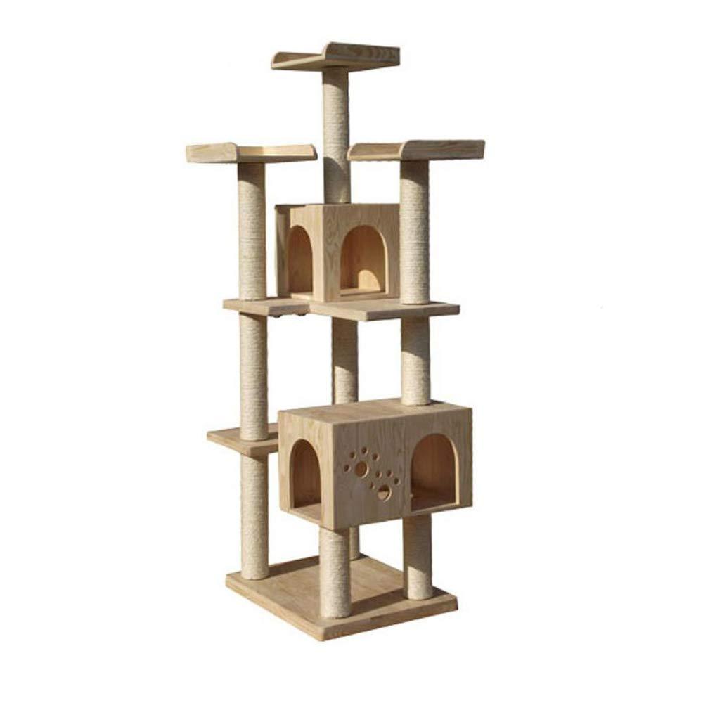 Axiba Alberi di di di gatto Mobilia del gatto di legno grande multipiano piattaforma gatto 60  50  180,5 cm d5c8ac