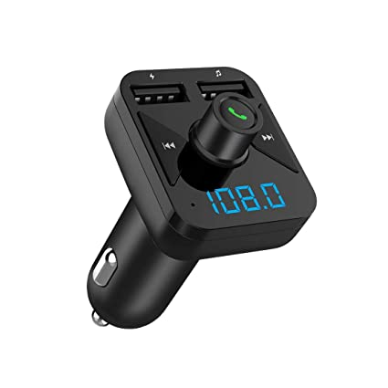 BT16 3.4A Cargador USB Bluetooth Car Kit Transmisor FM modulador Audio Música Coche Reproductor de Mp3 Teléfono Inalámbrico Manos Libres Kit para ...