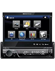 """Soundstream VIR-7830B Single-Din Bluetooth Car Stereo DVD Player with 7"""" LCD Touchscreen"""