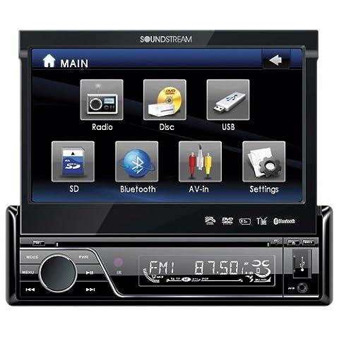 Soundstream VIR-7830B Single-Din Bluetooth Car Stereo DVD Player with 7-Inch LCD Touchscreen (Radios De Dvd)
