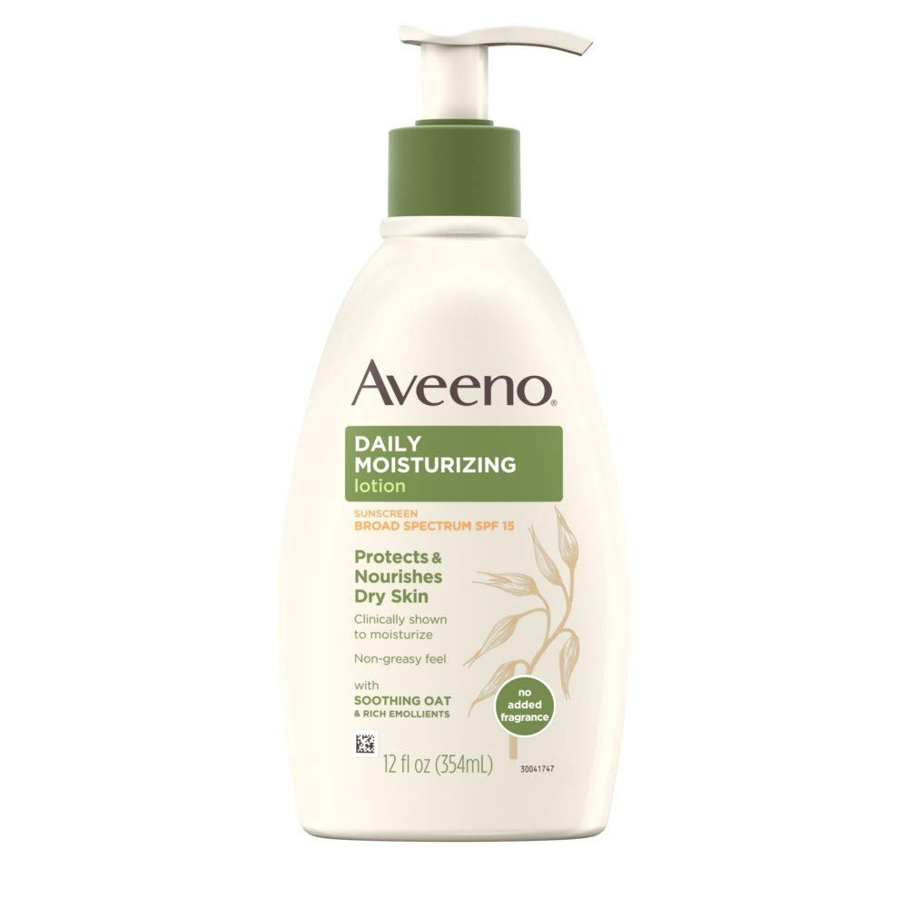 Aveeno Active Naturals Daily Moisturizing Lotion With Sunscreen Spf 15, 12 oz (Pack of 3)